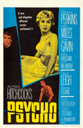 """Movie Posters:Hitchcock, Psycho (Paramount, 1960). One Sheet (27"""" X 41"""").. ..."""