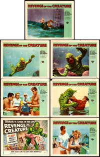 "Revenge of the Creature (Universal International, 1955). Title Lobby Card & Lobby Cards (6) (11"" X 14"")..."