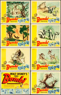 """Movie Posters:Animation, Bambi (RKO, 1942). Lobby Card Set of 8 (11"""" X 14"""").. ... (Total: 8 Items)"""