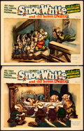 "Movie Posters:Animation, Snow White and the Seven Dwarfs (RKO, 1937). Lobby Cards (2) (11"" X 14"").. ... (Total: 2 Items)"