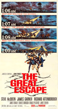 "Movie Posters:War, The Great Escape (United Artists, 1963). Three Sheet (41"" X 78"")Frank McCarthy Artwork.. ..."