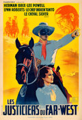 "Movie Posters:Serial, The Lone Ranger (Francinex, R-1940s). French Half Grande (31.5"" X46"").. ..."