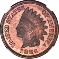 Proof Indian Cents, 1886 1C Type Two PR66 Red and Brown NGC....