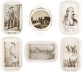 "Western Expansion:Cowboy, William F. ""Buffalo Bill"" Cody & Annie Oakley: A Collection of Six Glass Paperweights in Superb Condition...."