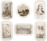 """William F. """"Buffalo Bill"""" Cody & Annie Oakley: A Collection of Six Glass Paperweights in Superb Condition..."""