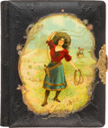 Photography:Cabinet Photos, Annie Oakley: A Gorgeous circa 1890s Photo Album for Cabinet Photos. ...