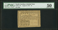 North Carolina August 8, 1778 $1 Liberty and Peace, the Reward of Virtuous Resi PMG About Uncirculated 50