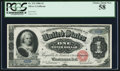 Large Size:Silver Certificates, Fr. 215 $1 1886 Silver Certificate PCGS Choice About New 58.. ...