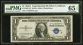 Small Size:Silver Certificates, Fr. 1609 $1 1935A R Silver Certificate. PMG Gem Uncirculated 65 EPQ.. ...
