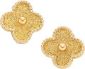 Estate Jewelry:Earrings, Gold Earrings, Van Cleef & Arpels, French . ...