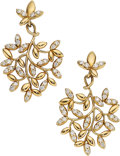 Estate Jewelry:Earrings, Diamond, Gold Earrings, Paloma Picasso for Tiffany & Co.. ...