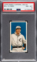 Baseball Cards:Singles (Pre-1930), 1909-11 T206 Sweet Caporal 350/30 Bill Clymer PSA NM-MT 8 - Pop Two, None Higher! ...