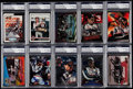Autographs:Sports Cards, 1990's Dale Earnhardt Signed Card Collection (10) - PSA/DNA Encapsulated. ...