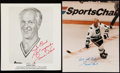 Autographs:Photos, Gordie Howe Signed Image Lot of 2....