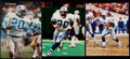 Autographs:Photos, Barry Sanders Signed Image Lot of 3.. ...