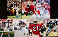 Autographs:Photos, Football Greats Signed Photograph Lot of 7 with Sayers, Smith,Rice, & Others.. ...
