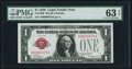 Small Size:Legal Tender Notes, Low Serial Number 379 Fr. 1500 $1 1928 Legal Tender Note. PMG Choice Uncirculated 63 EPQ.. ...