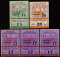 Boxing Collectibles:Memorabilia, 1954-55 Rocky Marciano Boxing Ticket Stubs Lot of 5. ... (Total: 3 items)