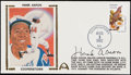 Autographs:Others, Hank Aaron Signed First Day Cover....