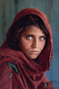 Steve McCurry (American, b. 1950) Afghan Girl, 1985 Dye destruction, printed later 17-3/8 x 11-5/