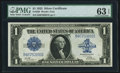 Large Size:Silver Certificates, Fr. 239 $1 1923 Silver Certificate PMG Choice Uncirculated 63 EPQ.....