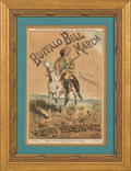 "Advertising:Signs, William F. ""Buffalo Bill"" Cody: Rare Large Sheet Music Dating from the Show's 1887 British Tour...."