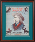 """Advertising:Signs, William F. """"Buffalo Bill"""" Cody's Wild West: Graphic Oversized SheetMusic...."""