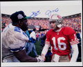 Autographs:Photos, Joe Montana & Emmitt Smith Signed Oversized Photograph.. ...
