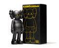 Fine Art - Sculpture, American:Contemporary (1950 to present), KAWS (b. 1974). Five Years Later Companion (Black), 2004.Painted cast vinyl. 14-3/4 x 6-3/4 x 4 inches (37.5 x 17.1 x 1...