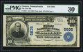 National Bank Notes:Pennsylvania, Donora, PA - $10 1902 Plain Back Fr. 633 The First NB Ch. # 5835. ...
