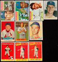 Baseball Cards:Lots, 1954 to 1958 Red Heart and Topps Baseball Collection (9). ...