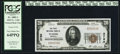 National Bank Notes:Nebraska, Wahoo, NE - $20 1929 Ty. 1 The First NB Ch. # 2780. ...