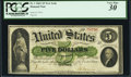 Large Size:Demand Notes, Fr. 1 $5 1861 Demand Note PCGS Very Fine 30.. ...