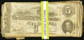 Confederate Notes:1863 Issues, T60 $5 1863 92 Examples.. ... (Total: 92 notes)