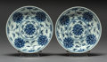 Asian:Chinese, Two Chinese Blue and White Porcelain Plates, Qing Dynasty, GuangxuPeriod, circa 1875-1908. Marks: Six-character Guangxu mar...(Total: 2 Items)