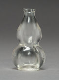 Asian:Chinese, A Chinese Carved Rock Crystal Double Gourd-Form Snuff Bottle, QingDynasty. 2-7/8 inches high (7.3 cm). ...