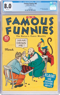 Famous Funnies #80 Larson Pedigree (Eastern Color, 1941) CGC VF 8.0 White pages