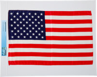 Apollo 11 Flown Largest Size American Flag Directly From The Armstrong Family Collection™, Certified and Encapsulated by...