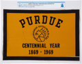 Explorers:Space Exploration, Apollo 11 Flown Purdue University Large Centennial Flag DirectlyFrom The Armstrong Family Collection™, Certified and Enca...