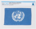 Explorers:Space Exploration, Apollo 11 Flown Flag of the United Nations Directly From The Armstrong Family Collection™, Certified and Encapsulated by C...