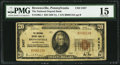 National Bank Notes, Brownsville, PA - $20 1929 Ty. 1 The National Deposit Bank Ch. # 2457. ...