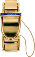 Estate Jewelry:Watches, Retro Swiss Lady's Sapphire, Gold Watch. ...
