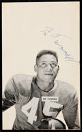 Autographs:Index Cards, Emlen Tunnell Signed Index Card. ...