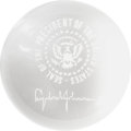 Political:Presidential Relics, Lyndon B. Johnson: Presidential Gift Glass Paperweight....