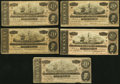 Confederate Notes, T67 $20 1864 Five Examples.. ... (Total: 5 notes)