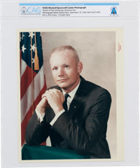 """Neil Armstrong: Original NASA """"Red Number"""" Color Photograph, the Business Suit Pose, Directly From The Armstro..."""