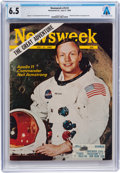 Explorers:Space Exploration, Apollo 11: The Newsweek Magazine Dated July 21, 1969, with Neil Armstrong on the Cover, Sent to His Texas Home Add...