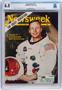 Apollo 11: The Newsweek Magazine Dated July 21, 1969, with Neil Armstrong on the Cover, Sent