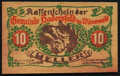 World Currency, Austria Wood Notgeld Hadersfeld im Wienerwald 10 Heller 1.6.1920.. ...