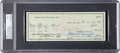 Football Collectibles:Others, 1960 Willie Wood Green Bay Packers Check Signed by Wood & Lombardi, PSA/DNA Mint 9.. ...